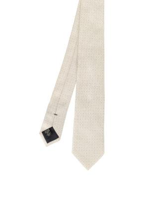Ermenegildo Zegna: ties & bow ties - Mini polka dot pearly silk tie