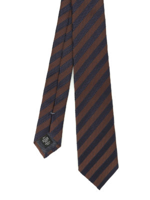 Ermenegildo Zegna: ties & bow ties - Oblique striped silk tie