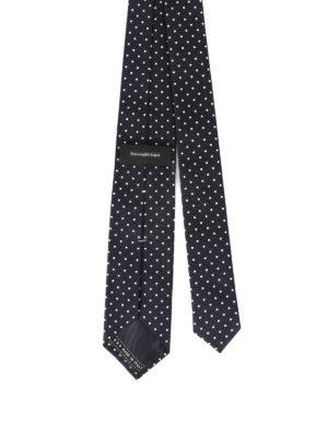 Ermenegildo Zegna: ties & bow ties online - Micro check pattern blue silk tie