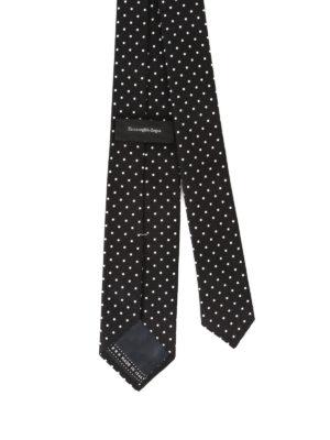 Ermenegildo Zegna: ties & bow ties online - Micro check patterned silk tie