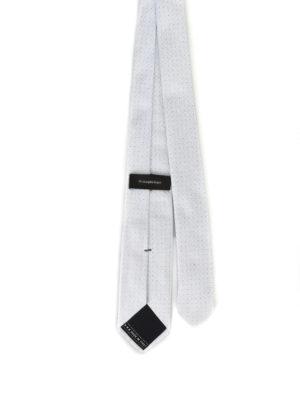 Ermenegildo Zegna: ties & bow ties online - Micro polka dot pearly silk tie