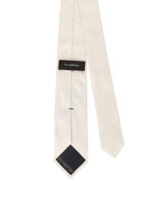 Ermenegildo Zegna: ties & bow ties online - Mini polka dot pearly silk tie