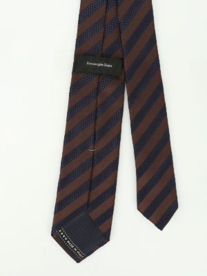 Ermenegildo Zegna: ties & bow ties online - Oblique striped silk tie
