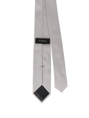 Ermenegildo Zegna: ties & bow ties online - Pearly grey silk jacquard tie