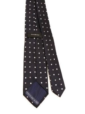 Ermenegildo Zegna: ties & bow ties online - Polka dot silk tie