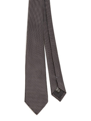 Ermenegildo Zegna: ties & bow ties - Patterned silk tie