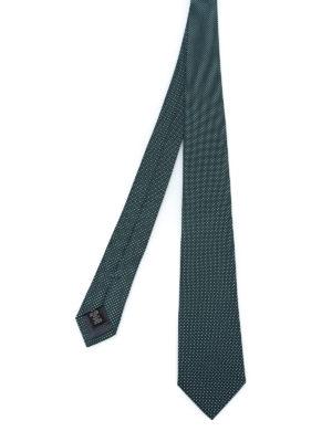 ERMENEGILDO ZEGNA: cravatte e papillion - Cravatta in seta verde con micro pois