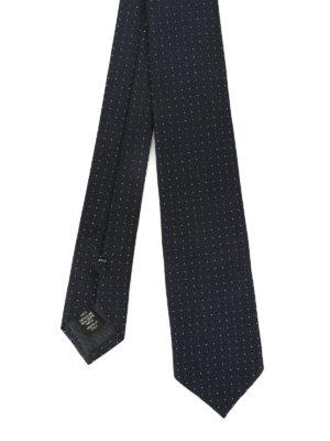 Ermenegildo Zegna: ties & bow ties - Polka dot silk jacquard tie