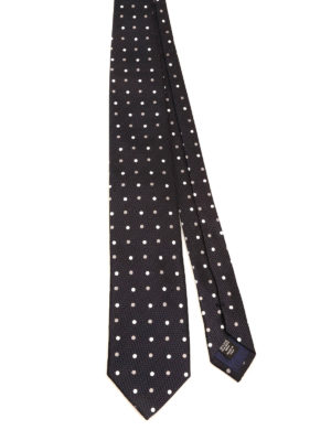 Ermenegildo Zegna: ties & bow ties - Polka dot silk tie