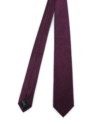 ERMENEGILDO ZEGNA: cravatte e papillion - Cravatta in seta lucida jacquard viola