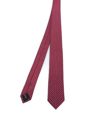 ERMENEGILDO ZEGNA: cravatte e papillion - Cravatta rossa in seta a motivo Paisley