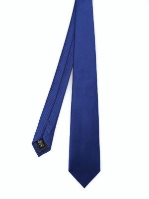 ERMENEGILDO ZEGNA: cravatte e papillion - Cravatta in seta blu royal