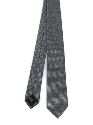 ERMENEGILDO ZEGNA: cravatte e papillion - Elegante cravatta in seta grigio argento
