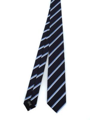 ERMENEGILDO ZEGNA: cravatte e papillion - Cravatta Regimental in seta blu scuro