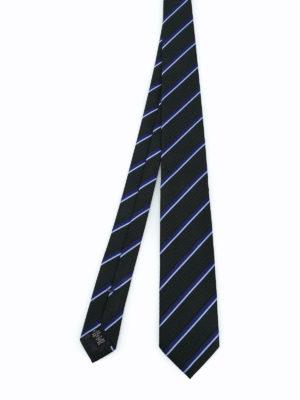 ERMENEGILDO ZEGNA: cravatte e papillion - Cravatta in seta lavorata Regimental