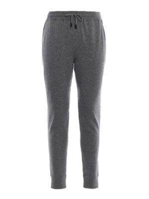 ERMENEGILDO ZEGNA: pantaloni sport - Pantaloni da tuta grigi in maglia di cashmere
