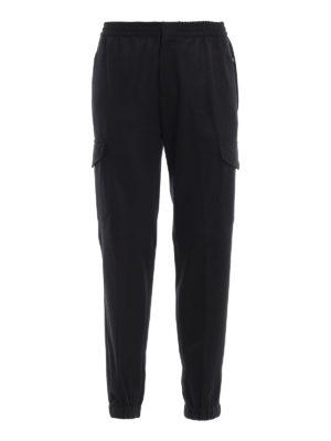 1b8cd8e33b32 ERMENEGILDO ZEGNA: pantaloni sport - Joggers cargo in lana