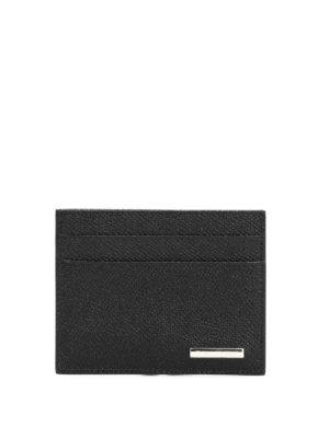Ermenegildo Zegna: wallets & purses - Grained leather card case