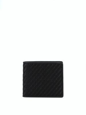 ERMENEGILDO ZEGNA: portafogli - Portafoglio nero in Pelle Tessuta™