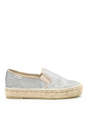 Espadrilles: Loafers & Slippers - Tonia lurex slip-ons