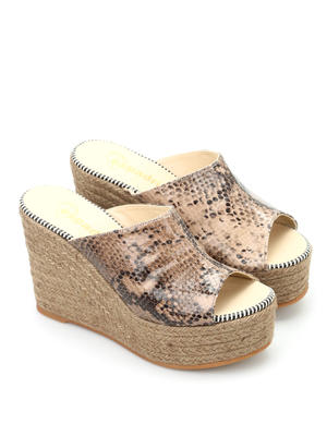 Espadrilles: mules shoes - Flash Wet open toe mules