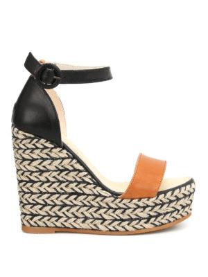 Espadrilles: sandals - Nail bicolour wedge espadrilles
