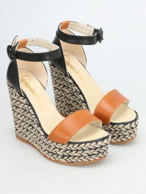 Espadrilles: sandals online - Nail bicolour wedge espadrilles