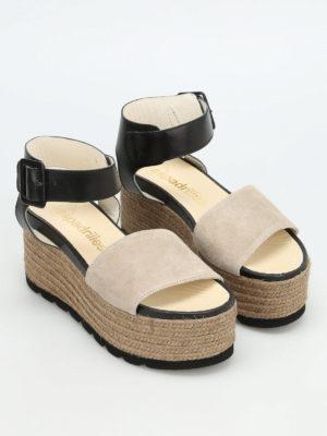 Espadrilles: sandals online - Query bicolour platform espadrilles