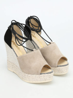 Espadrilles: sandals online - Samba bicolour wedge espadrilles