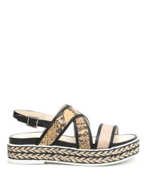 Espadrilles: sandals - Poly Kala glitter sequins sandals