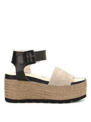 Espadrilles: sandals - Query bicolour platform espadrilles