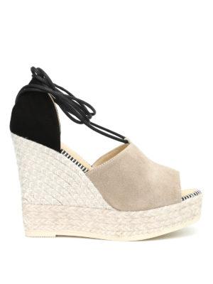 Espadrilles: sandals - Samba bicolour wedge espadrilles