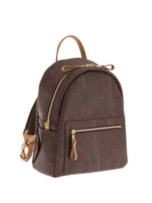 Etro: backpacks online - Paisley pattern backpack