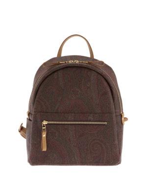 Etro: backpacks - Paisley pattern backpack