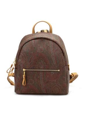 Etro: backpacks - Paisley pattern backpacks