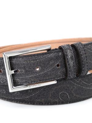 Etro: belts online - Paisley pattern belt