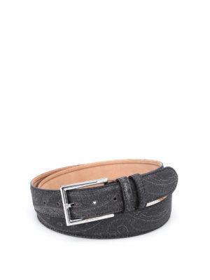 Etro: belts - Paisley pattern belt