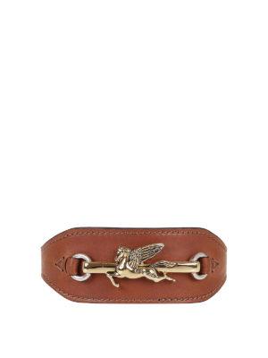 ETRO: belts - Pegaso leather belt