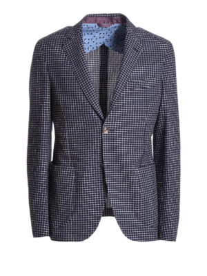 Etro: blazers - Check cotton unstructured blazer