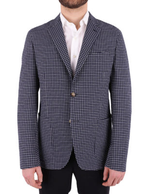 Etro: blazers online - Check cotton unstructured blazer