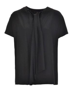 Etro: blouses - Lavallière neck silk blouse