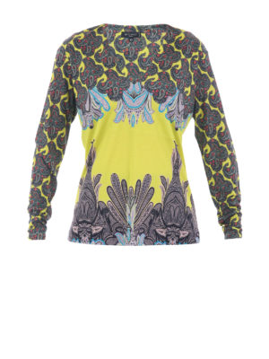 Etro: blouses - Multicolour patterned silk blouse
