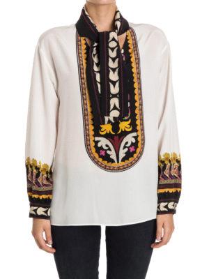 Etro: blouses online - Ethnic print silk blouse