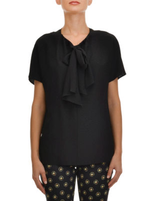 Etro: blouses online - Lavallière neck silk blouse