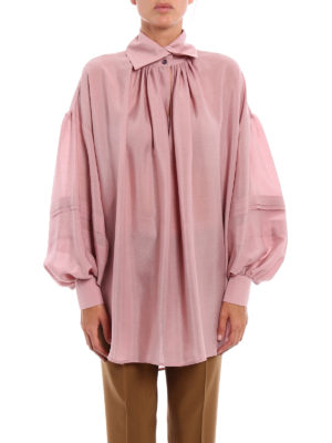Etro: blouses online - Opaque silk over blouse