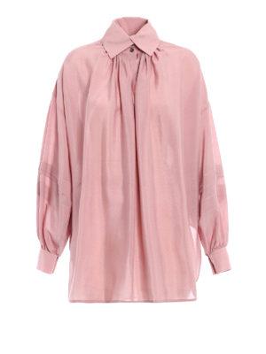 Etro: blouses - Opaque silk over blouse