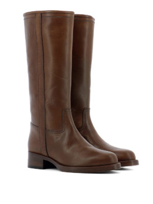 Etro: boots online - Leather slip-on boots
