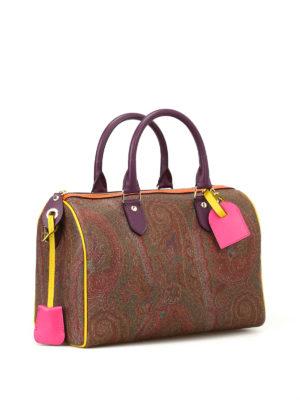 Etro: bowling bags online - Multicolour Paisley bowling bag
