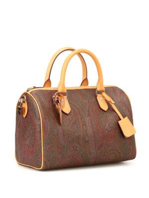 Etro: bowling bags online - Paisley pattern bowling bag