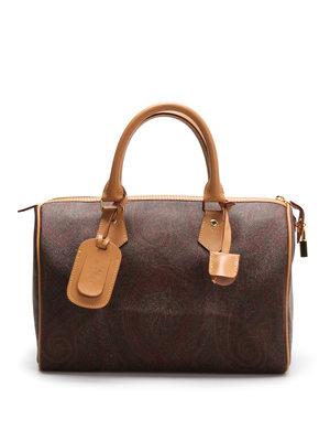 Etro: bowling bags - Paisley bowling bag